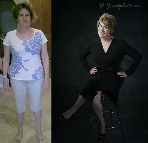Before and Aftter Complete Glamour Makeover in Phoenix Arizona